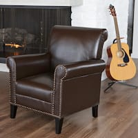 Richard Studded Club Chair by Christopher Knight Home
