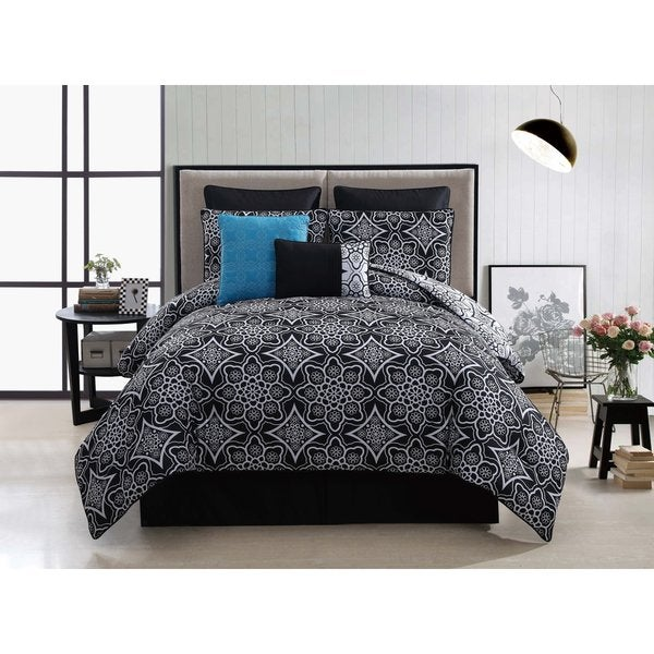 VCNY Arabella 8-piece Reversible Comforter Set