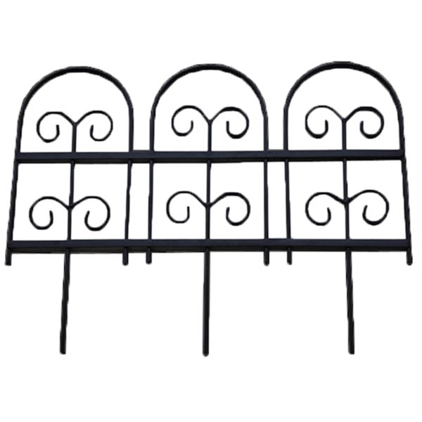 Shop Wrought Iron Garden Fence Edging Free Shipping