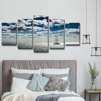 Bruce Bain 'Ship' 5-piece Set Canvas Wall Art - Blue