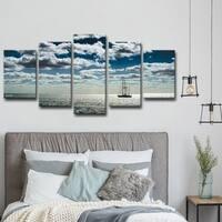 Ready2HangArt 'Ship' 5-piece Set Canvas Wall Art - Blue