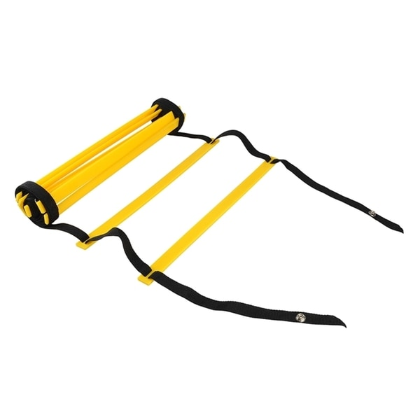 INSTEN Yellow 4-meter 8-rung Agility Training Ladder for Athelets Soccer Football Player