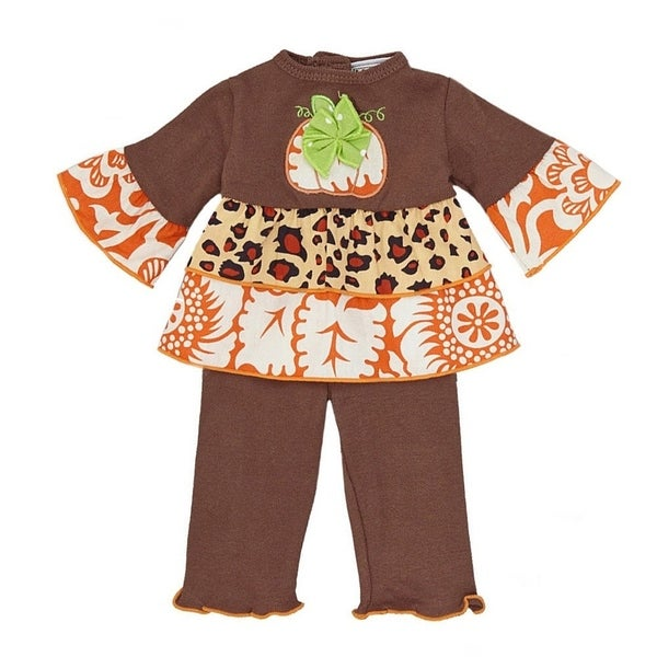AnnLoren Thanksgiving Harvest Pumpkin Doll Outfit