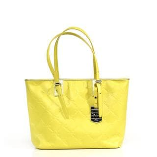 Longchamp LM Cuir Small Lemon Tote Bag