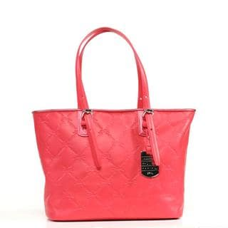 Longchamp LM Cuir Small Pink Tote Bag