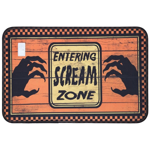 Music Sounds Halloween Scream Zone Mat (15 x 22)  Free  ~ 010317_Halloween Doormat With Sound