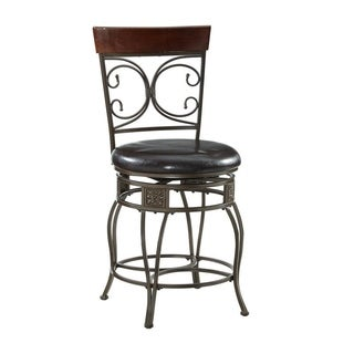 Powell Onyx Scroll Counter Stool
