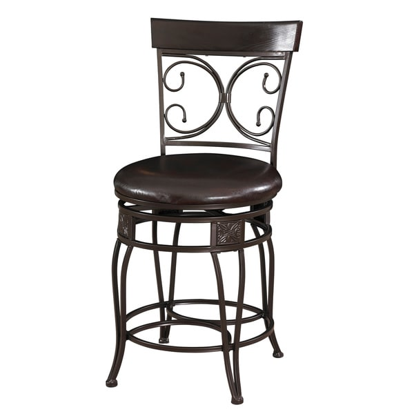 Powell Onyx Scroll Counter Stool Free Shipping Today