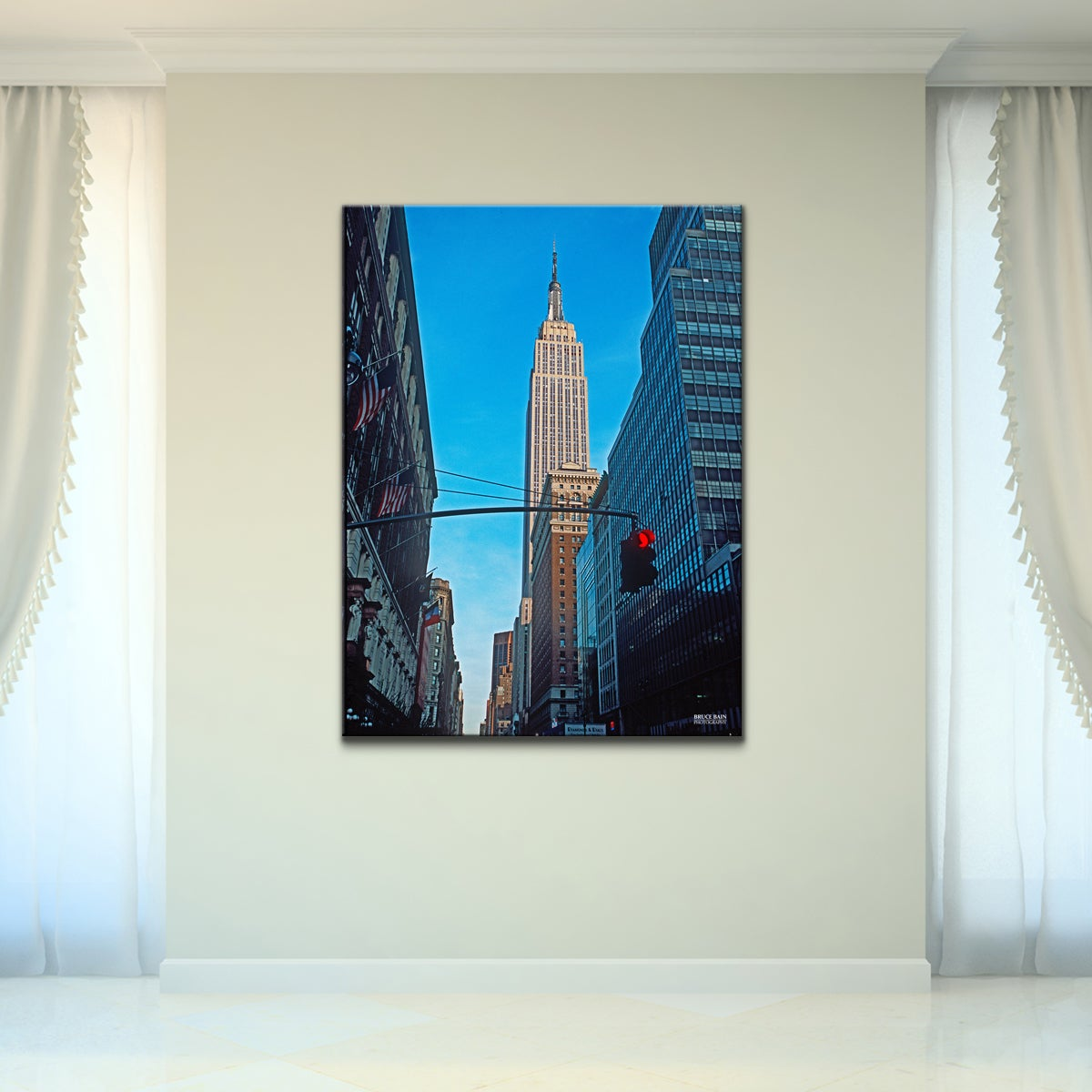 Shop Empire State Building Cityscape Wrapped Canvas Wall Art Free Shipping Today Overstock 9141451