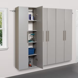3-piece Stone Grey Storage Cabinet Set C