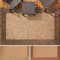Megan Greek Key Border Indoor/ Outdoor Area Rug (8'8 x 12')
