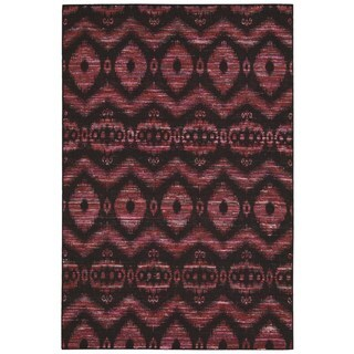 Nourison Spectrum Burgundy Black Rug (3'9 x 5'9)