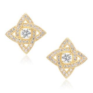 Journee Collection Goldtone Cubic Zirconia Stud Earrings