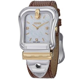 Fendi Women's F382114521D1 'B. Fendi' Mother of Pearl Dial Two Tone Quartz Watch