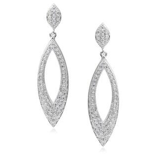 Journee Collection Brass Cubic Zirconia Dangle Earrings