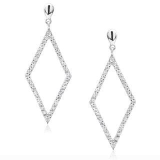 Journee Collection Cubic Zirconia Diamond-shaped Dangle Earrings