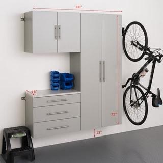 Stone Grey Storage Cabinet 3-piece Set B