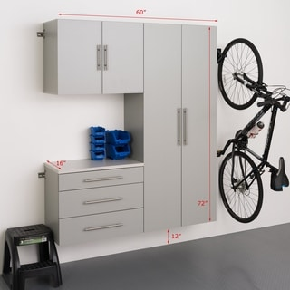 "Prepac HangUps 60"" Storage Cabinet Set B - 3pc - 60"" W x 72"" H x 16"" D"