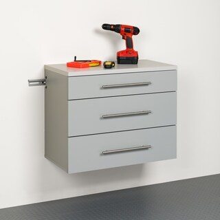 Stone Grey 3-drawer Base Storage Cabinet