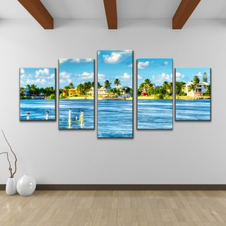 Bruce Bain 'Key's Canal' 5-piece Set Canvas Wall Art