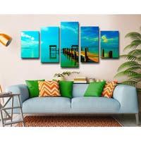 Bruce Bain 'Key's Pier' 5-piece Set Canvas Wall Art