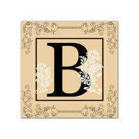 Ready2hangart 'Luxe Monogram B' Canvas Wall Art
