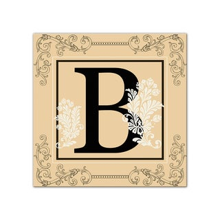 Ready2hangart 'Luxe Monogram B' Canvas Wall Art (2 options available)