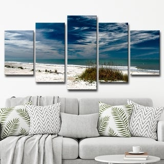 Bruce Bain 'Silent Beach' 5-piece Set Canvas Wall Art