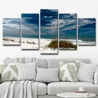 Ready2HangArt 'Silent Beach' Multi-Piece Canvas Wall Art Set - Blue/SAND