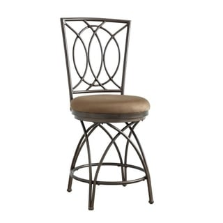 Powell Monaco Metal Crossed Legs Counter Stool