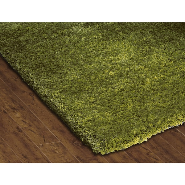 Somette Soft Shag Emerald Green Area Rug (3'6 X 5'6
