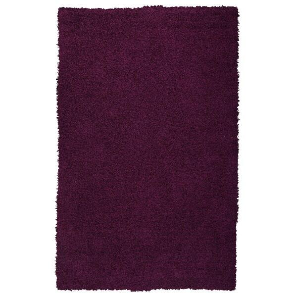 Somette Goa Purple Super Thick Shag Area Rug (8'9 x 12')