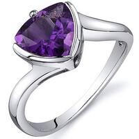 Oravo Sterling Silver Trillion-cut Gemstone Ring