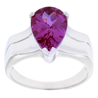 Oravo Sterling Silver Pear Gemstone Ring