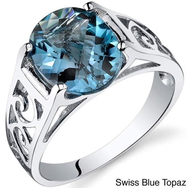 Oravo Sterling Silver Oval-cut Gemstone Ring