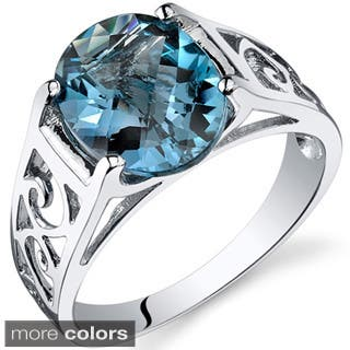 Oravo Sterling Silver Oval-cut Gemstone Ring|https://ak1.ostkcdn.com/images/products/9141874/P16323140.jpg?impolicy=medium