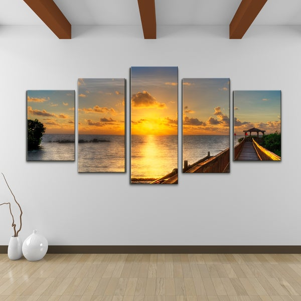 bruce bain 39 key 39 s sunrise 39 5 piece set canvas wall art. Black Bedroom Furniture Sets. Home Design Ideas