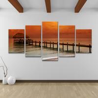 Bruce Bain 'Belize Storm' 5-pieceSet Canvas Wall Art