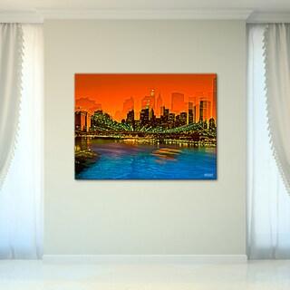 Bruce Bain 'Brooklyn Bridge III' Canvas Wall Art