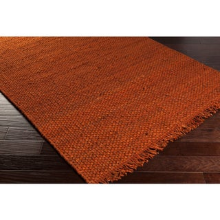 Handwoven Utah Solid Jute Rug - 2'3 x 8' (Option: Rust)
