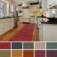 Hand-Woven Oregon Solid Jute Area Rug (2'3 x 10') - 2'3 x 10'