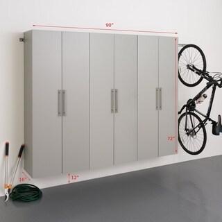 Stone Grey Storage 3-piece Cabinet Set D