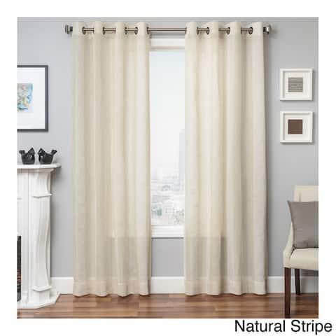 Softline Herald Linen Semi-sheer Grommet Top Curtain Panel