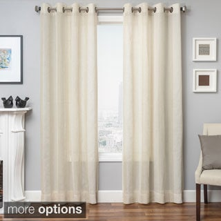 Softline Herald Linen Semi-sheer Grommet Top Curtain Panel