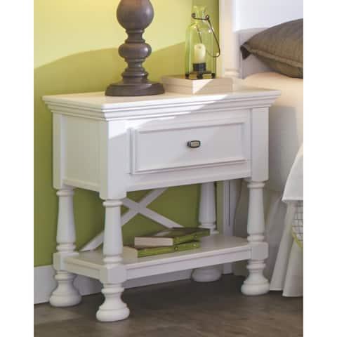 Kaslyn White 1-drawer Nightstand