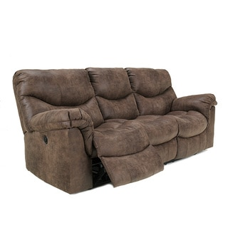 Signature Design by Ashley Alzena Gunsmoke Reclining Power Sofa