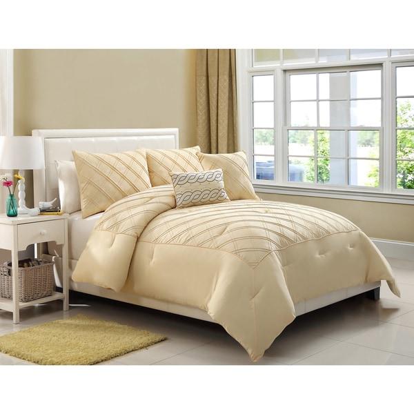 VCNY Pisces Metropolis 5-piece Yellow Comforter Set