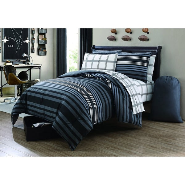 VCNY Baker 9-piece Bed in a Bag with and Sheet Set