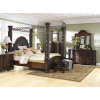 North Shore Dark Brown King Poster Canopy Bed