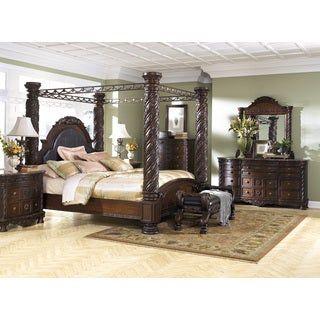 North Shore Dark Brown King Poster Canopy Bed  sc 1 st  Overstock.com & Canopy Bed Wood For Less | Overstock.com